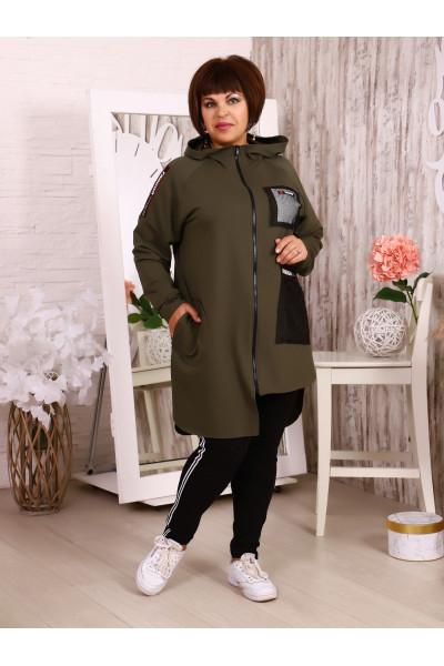 Куртка футер хаки
