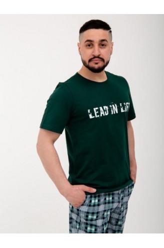 Мужской костюм зелёный
