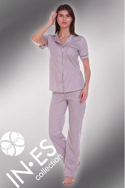 """Пижама """"Холли"""" брюки полоса"""