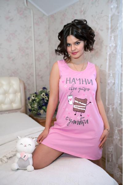 """Ночная сорочка """"Крекер"""" (розовый)"""