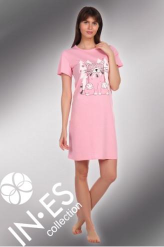 """Ночная сорочка """"Кот розовый"""""""